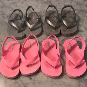 Old navy flip flops (all 4 pairs)